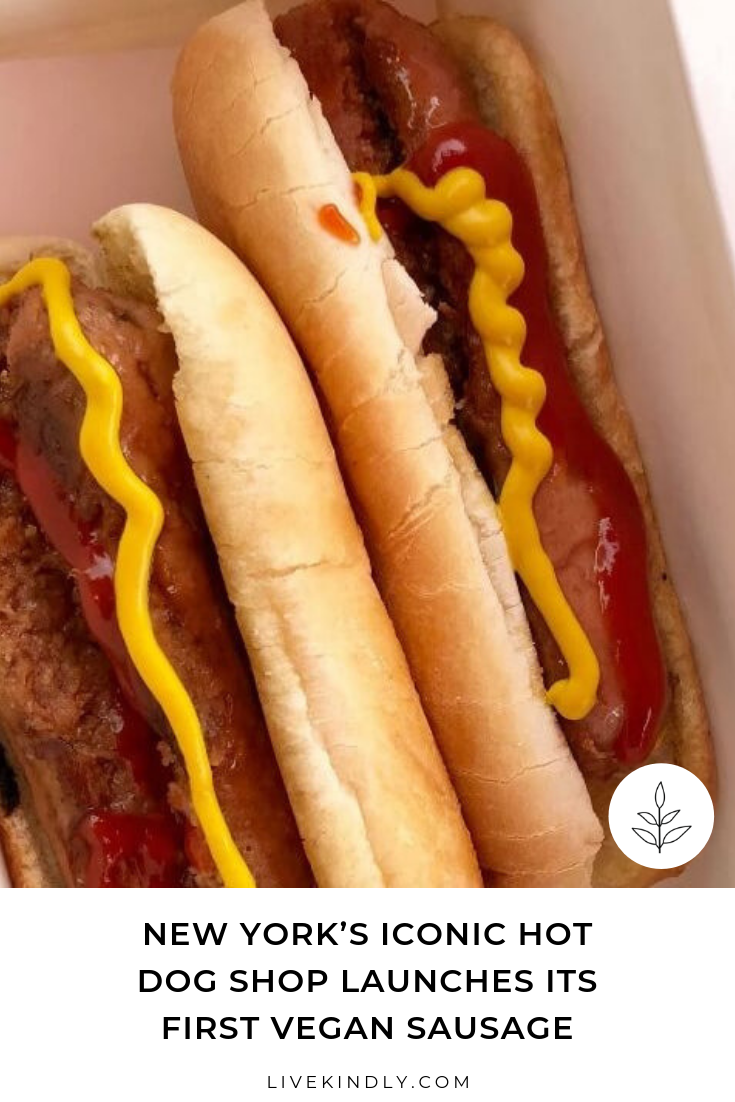 New York S Iconic Hot Dog Shop Launches Its First Vegan Sausage Vegan Sausage Hot Dogs Vegan
