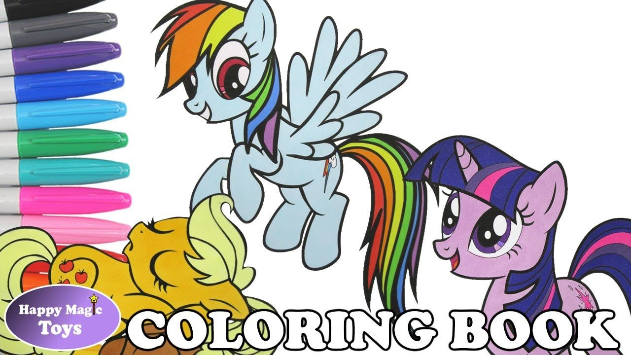 A Compilation Of My Little Pony Coloring Videos Including Rainbowdash Applejack And Twilight Spa My Little Pony Coloring Coloring Books Cartoon Coloring Pages