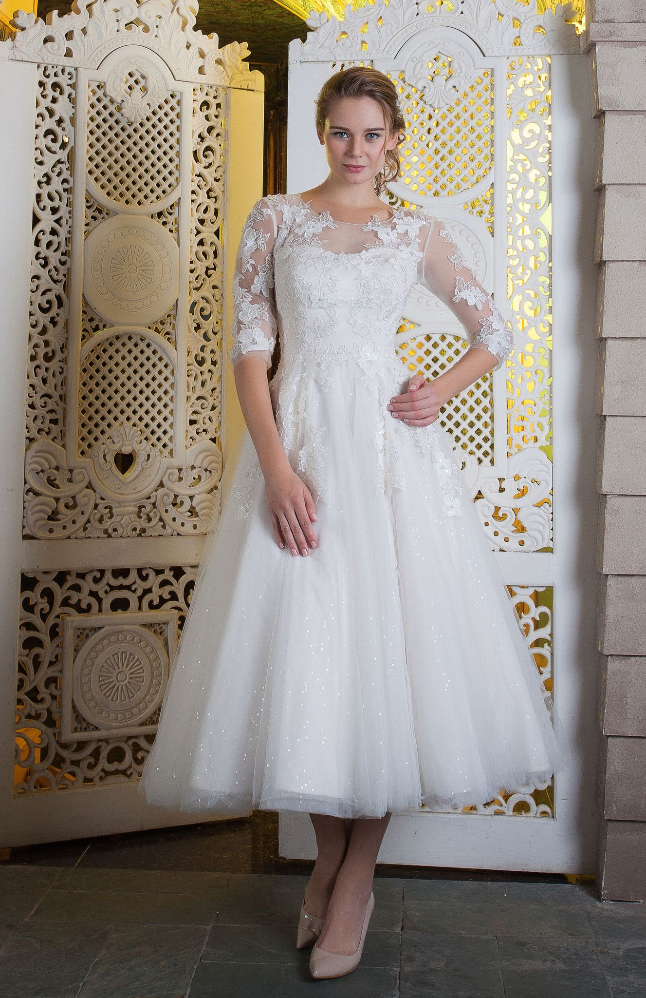 Awesome 50th Wedding Anniversary Dresses Check More At Http Svesty Com 50th Wedding Annive Tea Length Wedding Dress Wedding Dresses Knee Length Wedding Dress,Stylish Wedding Party Wear Dresses For Womens