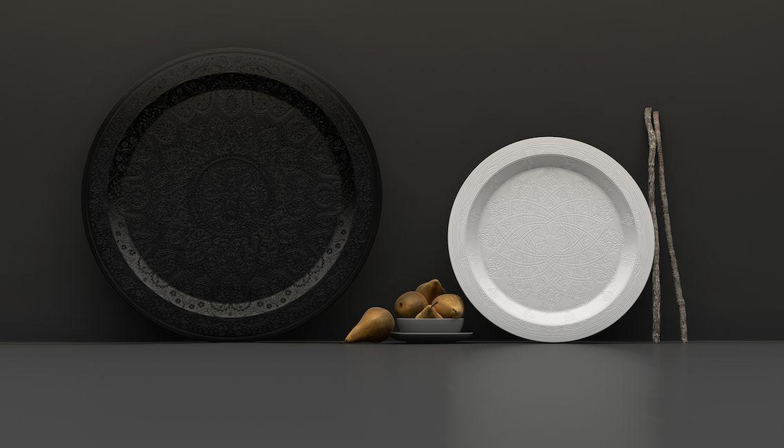 Balfour Stevenson - Ivory Collection #engravings #tray #corian #table #design #interior