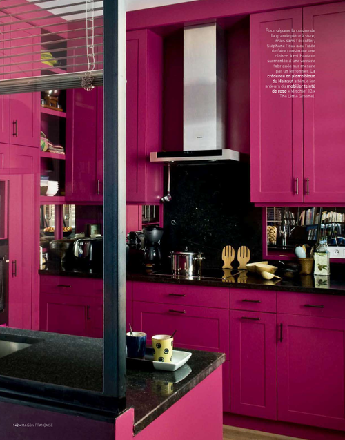 If You Like Hot Pink This Kitchen Is For You Pink Kitchen Decor Pink Kitchen Cabinets Red Kitchen Decor