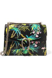 Dionysus large printed textured-leather shoulder bag