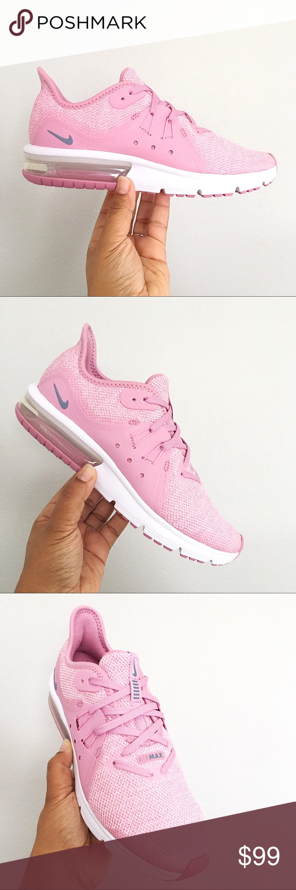 3a3b0f47ab Nike Air Max Sequent 3 Elemental Pink Women Size 8 Brand New in Box with Lid