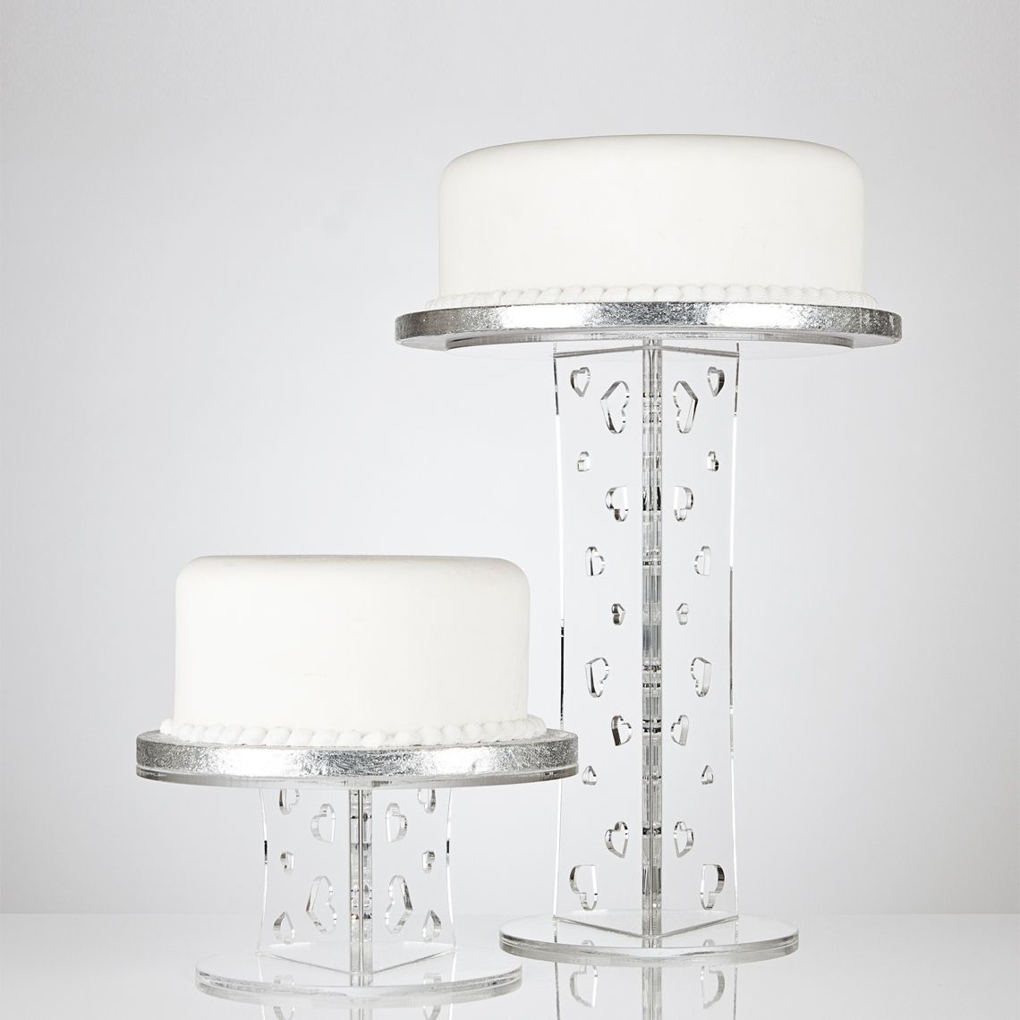 Elegant clear acrylic cake stands with heart cut-out designs....www ...
