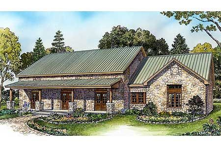 Plan 46016hc Front And Rear Porches Texas Hill Country House Plans Ranch Style Homes Ranch House