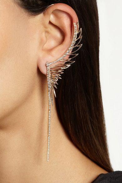 9 Karat Rose Gold Diamond Large Ear