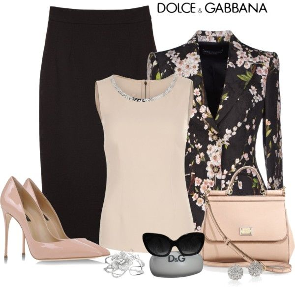 A fashion look from January 2015 featuring Dolce&Gabbana tops…