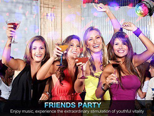 Luci led discoteca party luci stroboscopio spriak 7 colore led