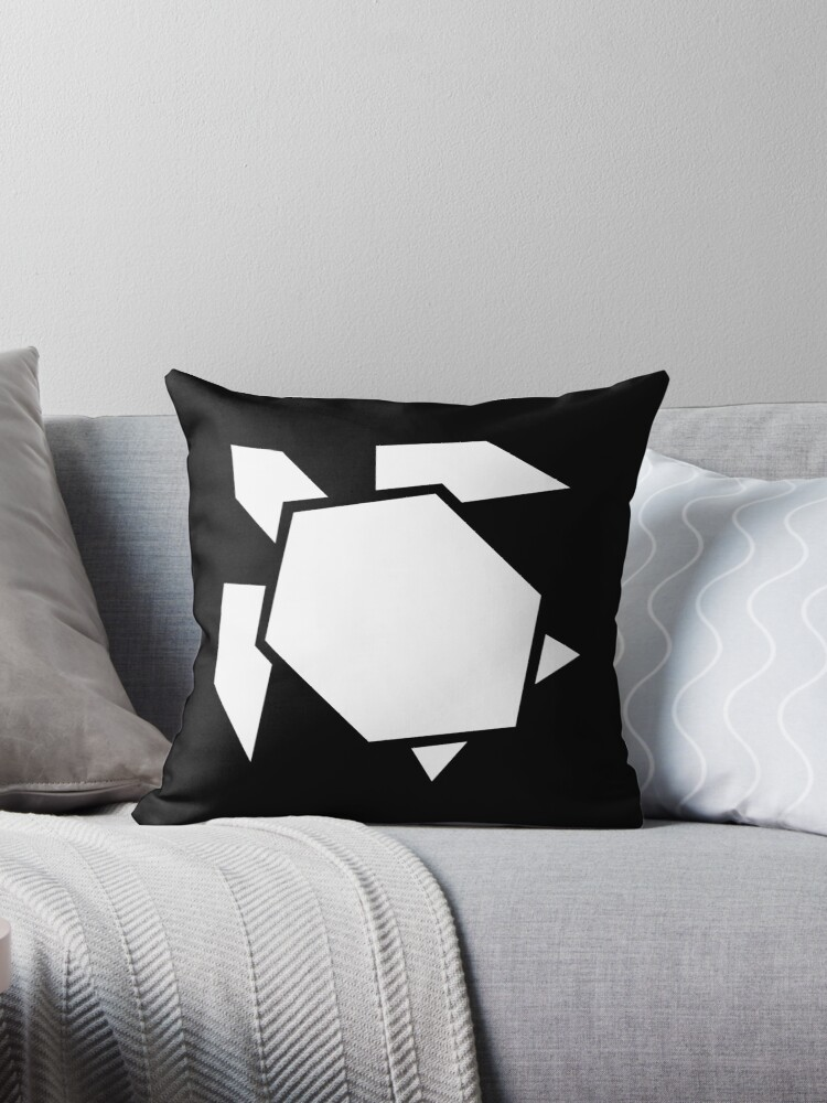 Photo of 'Geometric turtle, origami style' Throw Pillow by rcmorigami
