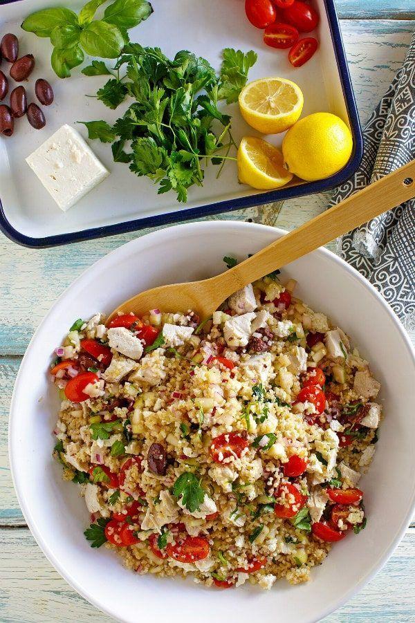 Griechischer Bulgursalat mit Hähnchenrezept von  ...