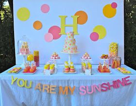 bloom designs: You Are My Sunshine Party- New Party in Bloom