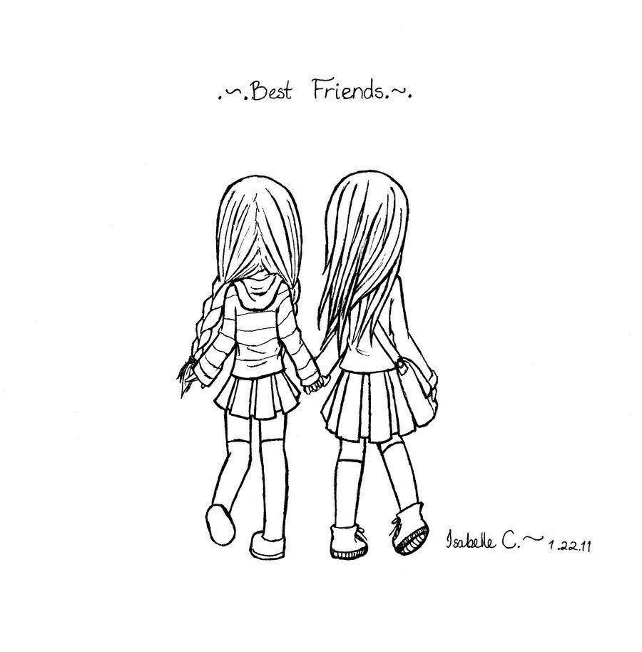 Best Friend Sketch Black And White
