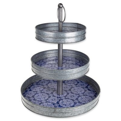 Galvanized Steel 3 Tier Stand Bed Bath Beyond Tiered Stand
