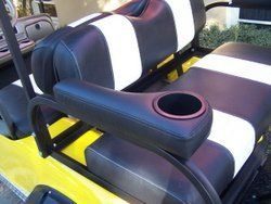Arm Rests - Rear Seats - w/Cup Holders by Caddy Golf Cart Parts. Arm on quad cup holder, lexus cup holder, golf hand carts, wheel cup holder, clip on cup holder, golf cart cup extension, ezgo marathon cup holder, hummer cup holder, john deere cup holder, vehicle cup holder, home cup holder, skateboard cup holder, golf pull carts, van cup holder, honda cup holder, horse cup holder, cobra cup holder, convertible cup holder, chopper cup holder, moped cup holder,