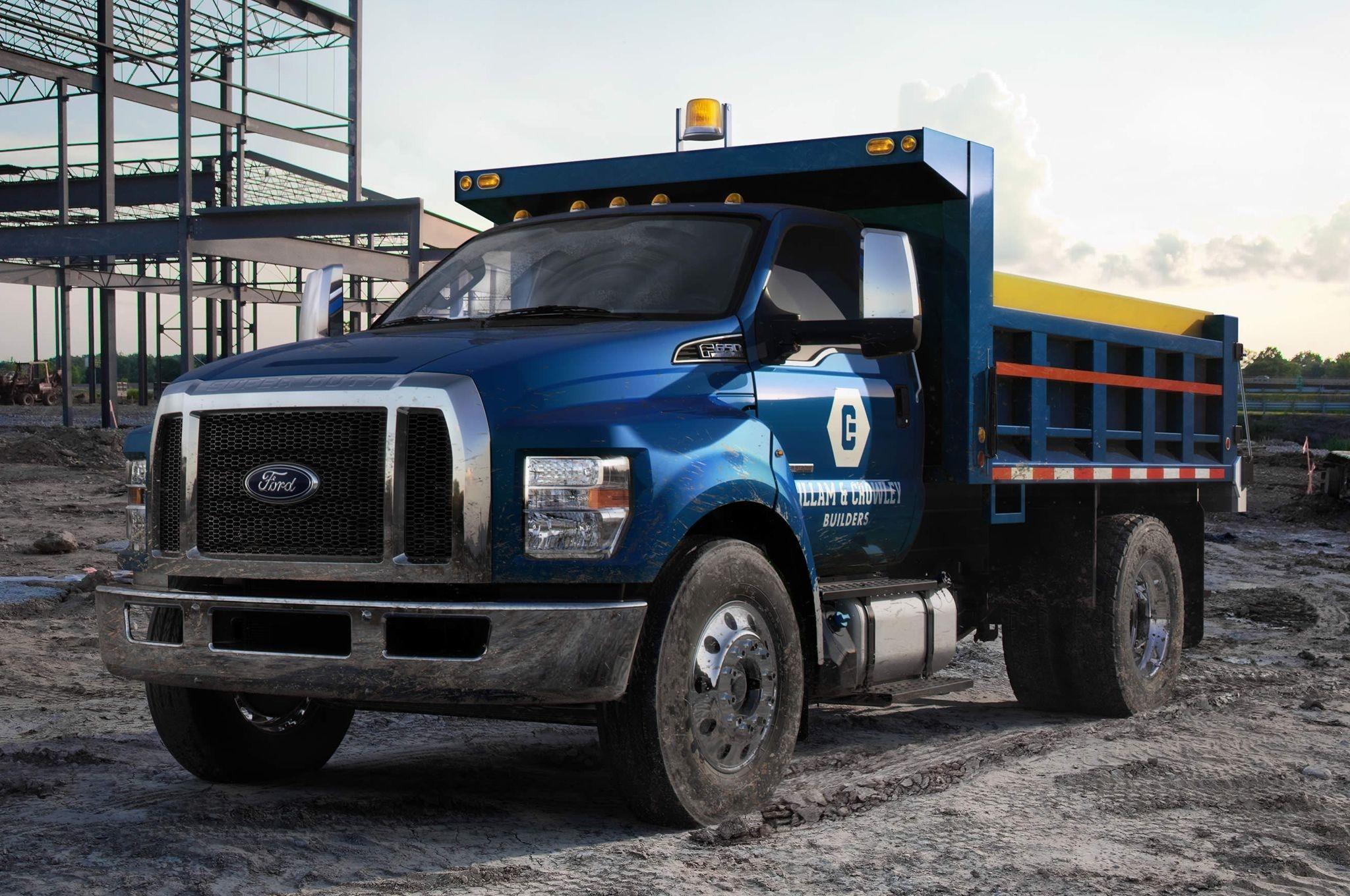 2016 ford f 650 super duty dump truck