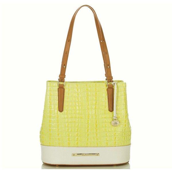Brahmin Hudson Bucket Bag Limelight La Scala Color Block 325 Liked On Polyvore Featuring Bags Handbags Shoulder Colorblock