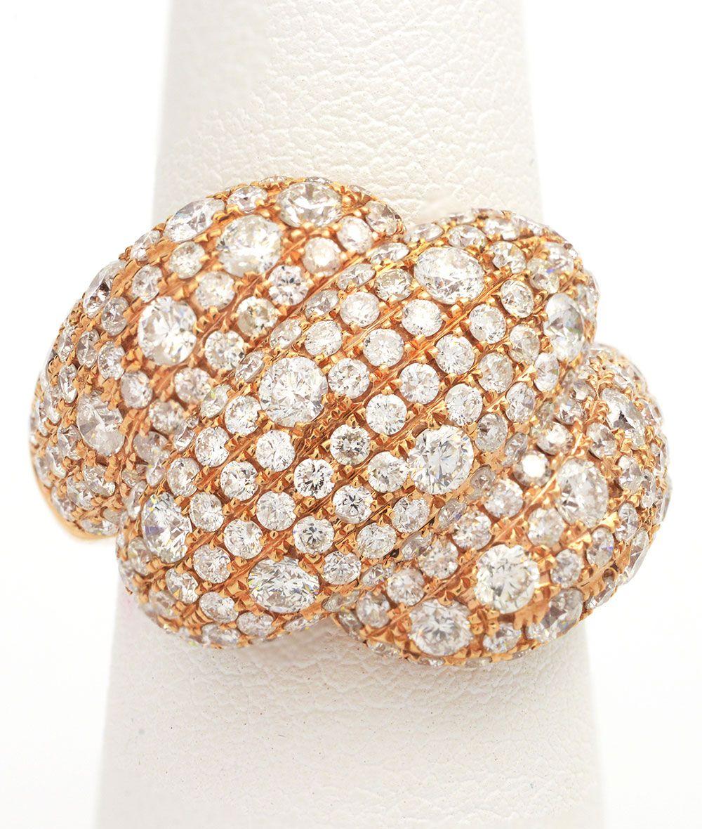 Unique Diamond Rose Gold Wedding Band Item 3183985817 4