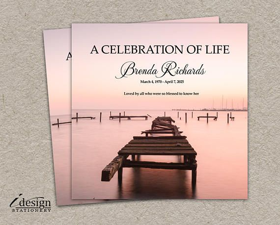 Celebration Of Life Invitation Printable Memorial Service Or - memorial service invitation wording
