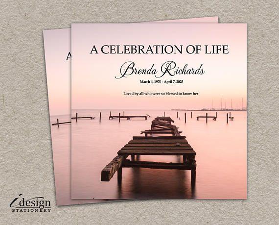 Celebration Of Life Invitation Printable Memorial Service Or - memorial service invitation wording