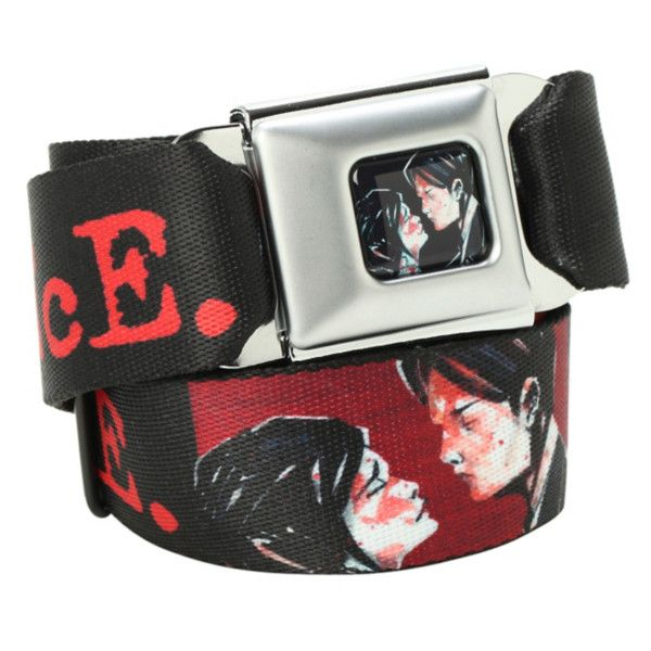 My Chemical Romance Three Cheers Seat Belt Belt | Hot Topic (€24) ❤ liked on Polyvore featuring accessories, belts, jewelry and my chemical romance