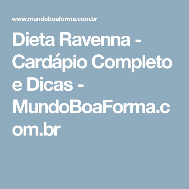 dieta ravenna cardapio completo pdf
