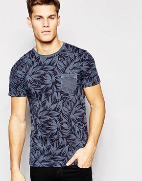 Camiseta con estampado de palmeras de Tommy Hilfiger   solo negro ... c36d811e852