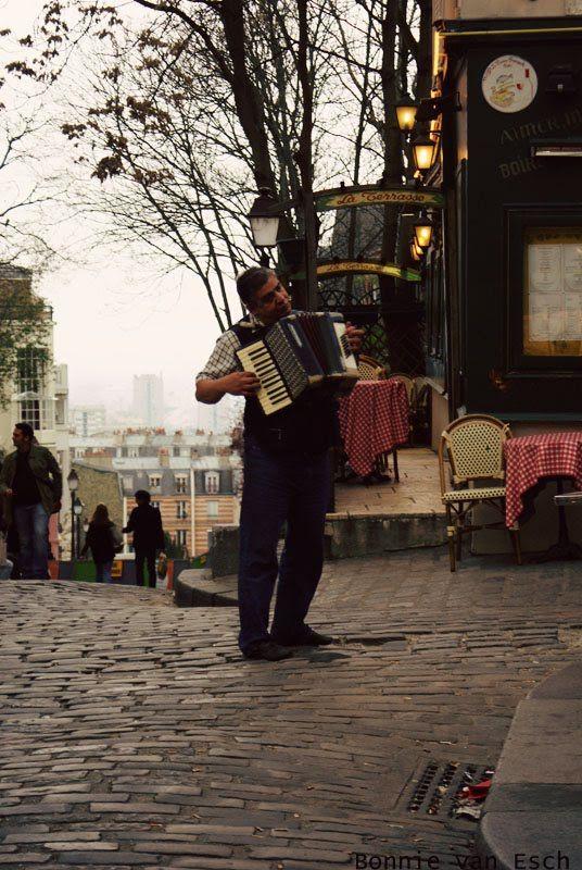 Paris Street Cafe Accordian