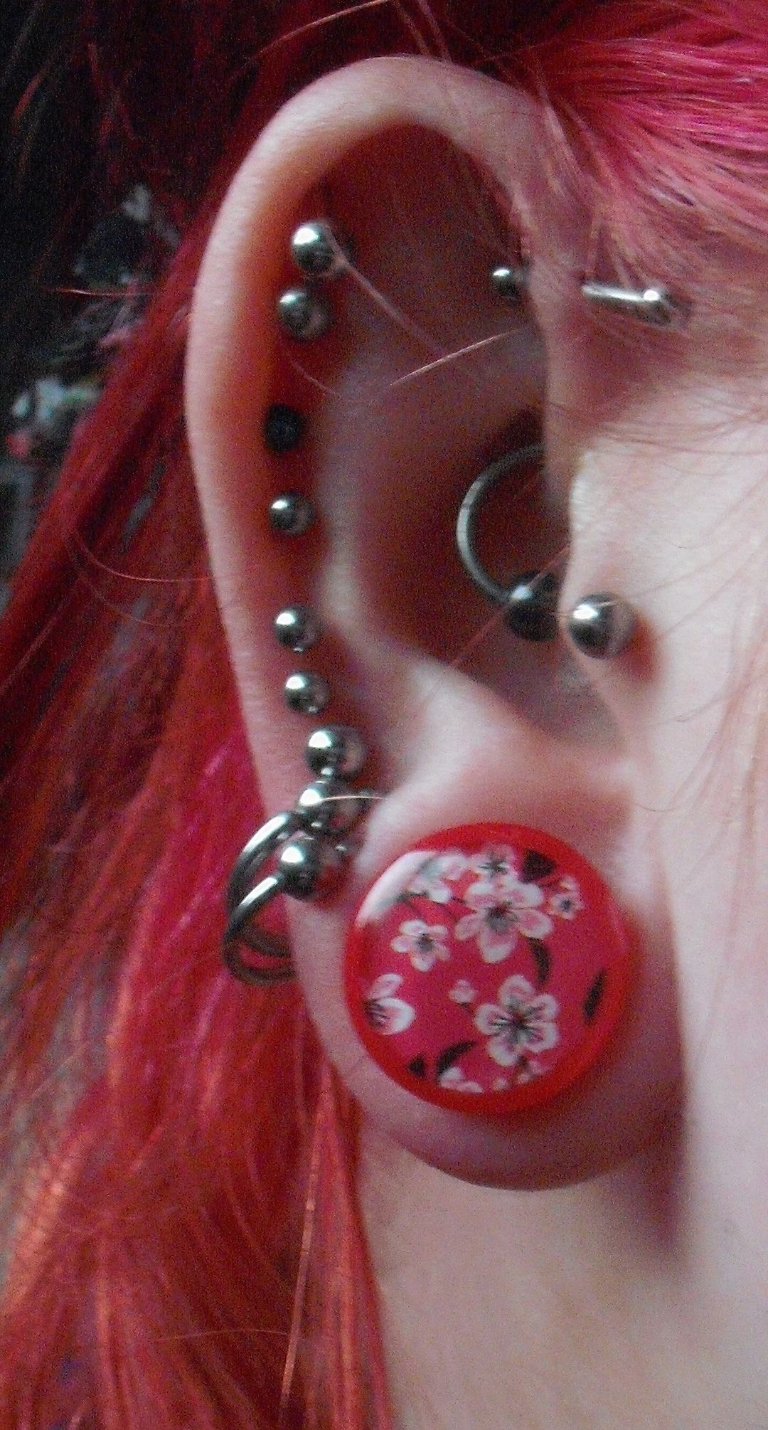 Above nose piercing  mm lobe and new mm antihelix  Piercings  Pinterest  Piercings
