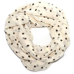 Polka Dot Scarf Cream Black now featured on Fab.