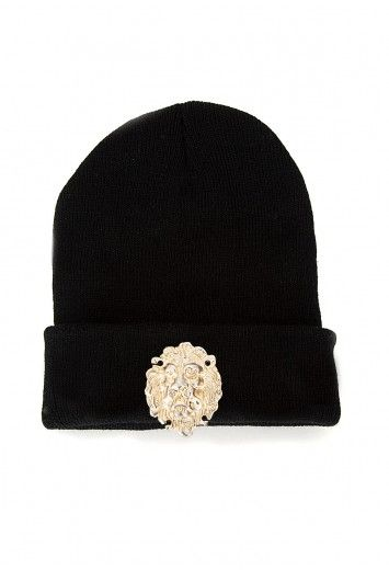 Addn a fierce touch to your #sportsluxe look with the #Missguided Kacy Lion Head #BeanieHat
