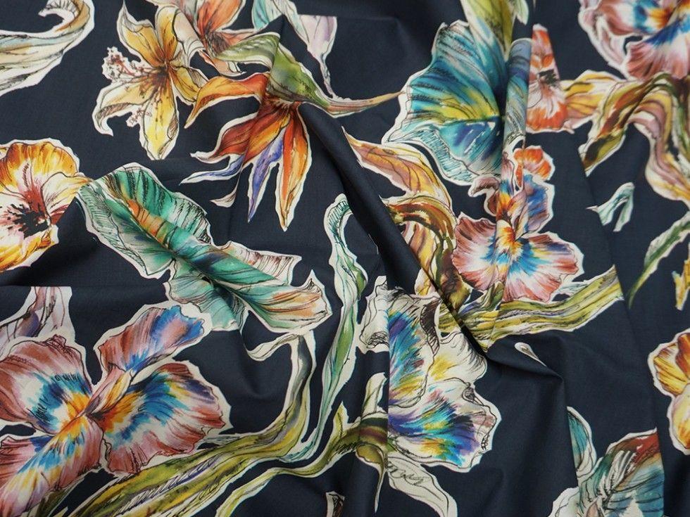 Lady Mcelroy Perennial Splendour Cotton Poplin Dress Fabric