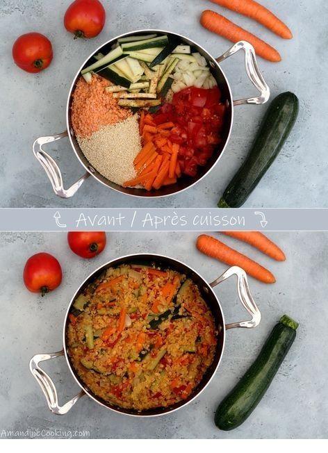 One Pot Quinoa, Lentilles Corail, Carotte, Courgette Et ...