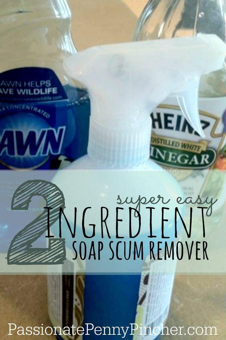 Diy soap scum remover recipe passionate penny pincher