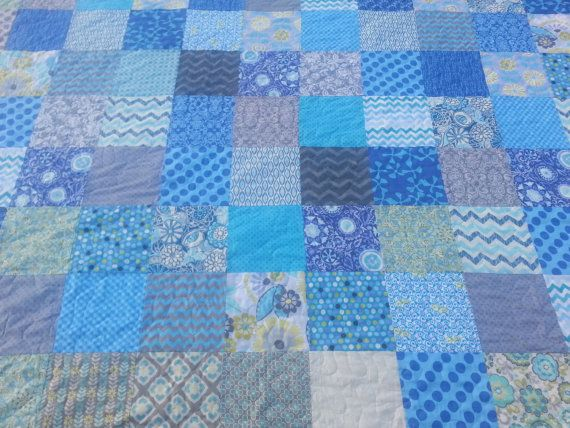 Hey, I found this really awesome Etsy listing at https://www.etsy.com/listing/208530527/king-size-quilt-in-blue-turquoise-green