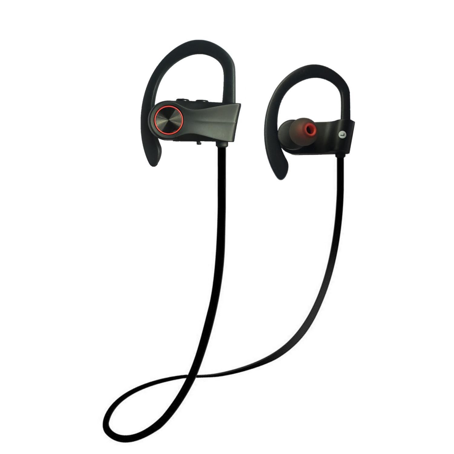 9c60b9f43bc Bluetooth Headphones, Wireless Headphones V4.1 Stereo Earphones Noise  Cancelling Earbuds Sports Sweatproof Headset