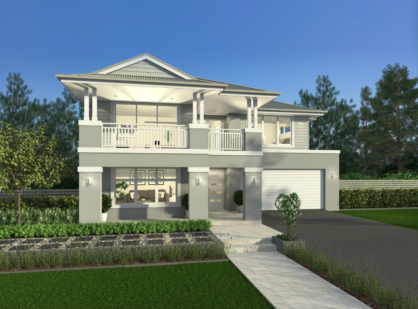 Saxonvale Two Storey Home By Mcdonald Jones Hamptons House Facade House House Exterior