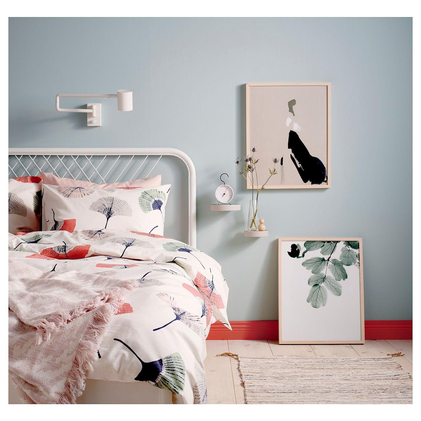 NESTTUN Bed frame white, Luröy IKEA in 2020 Bed
