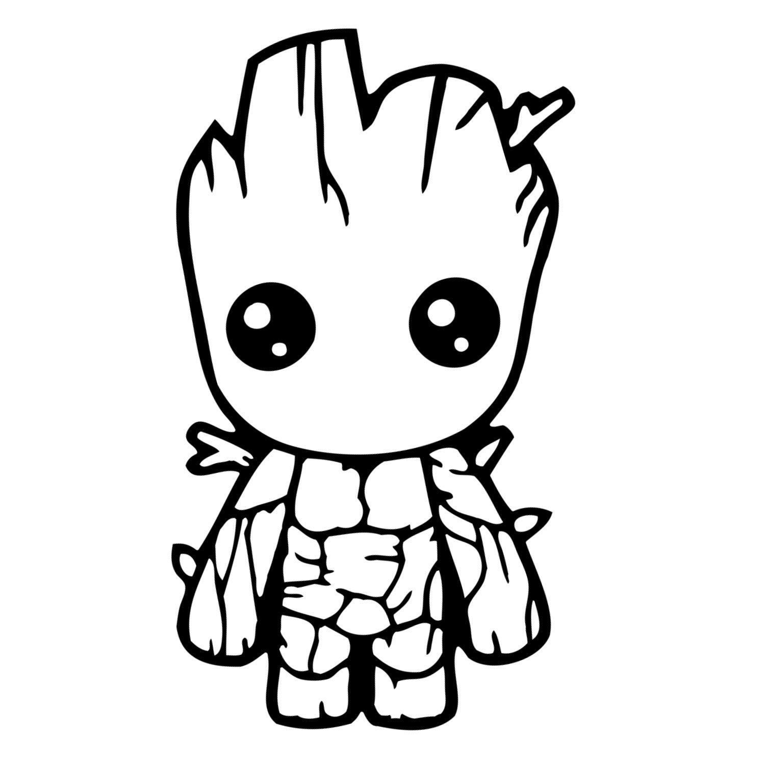 Baby Groot Decal Avengers coloring pages, Avengers