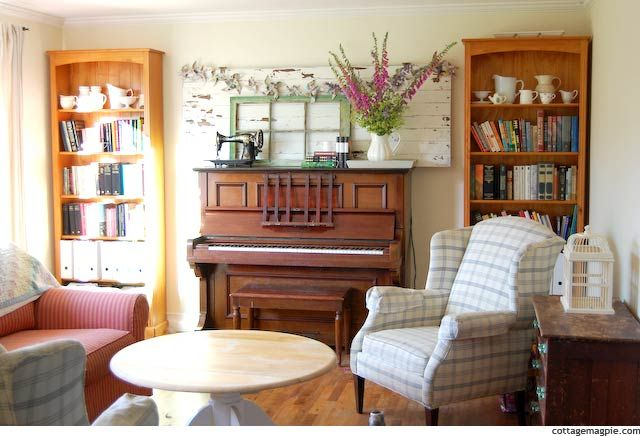 Early Summer Piano Mantel DecoratingDiy DecoratingSummer Upright