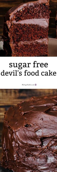 Sugar Free Devil's Food Cake #sugarfree #cake #baking #chocolate #devilsfood #yummy #best #sugarfreedesserts