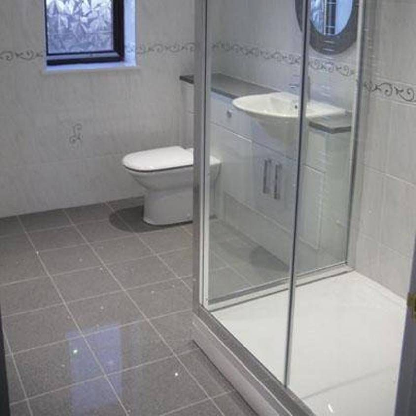 Grey Starlight Quartz Bathroom Floor Tile