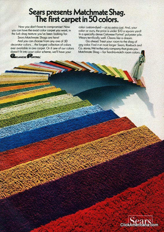 Home Fashions From Sears 1972 Shag Carpet And Vintage Ads