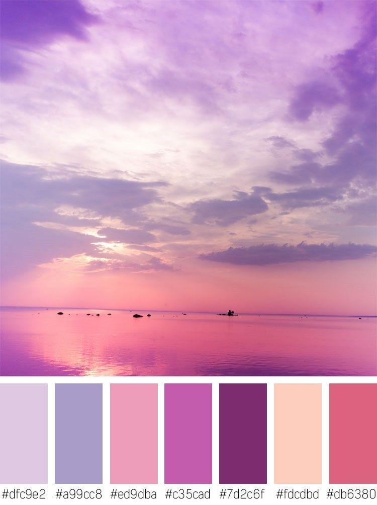 purple sunset stock photos color palette color