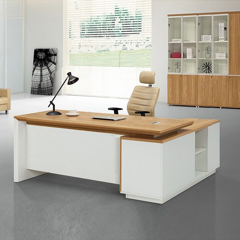 Beautiful Simple Style Melamine High End Office Furniture Executive Desk Set