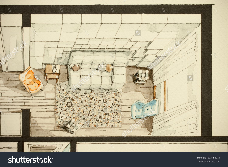 Representative Graphic Material Of Apartment Living Room As
