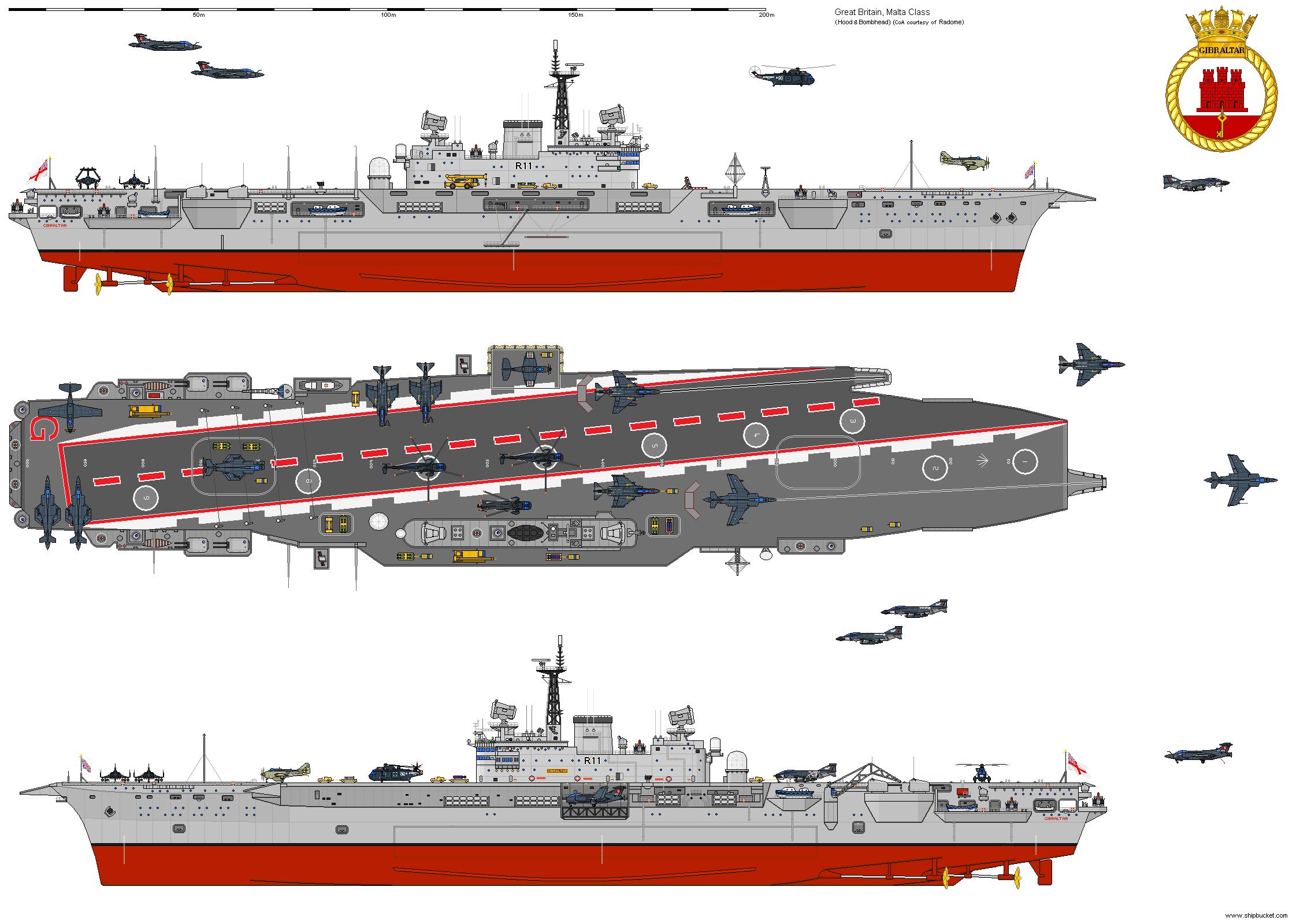 Shipbucket Never Built Designs Great Britain Cv R11 Gibraltar Png Aircraft Carrier Royal Navy Aircraft Carriers Navy Aircraft Carrier