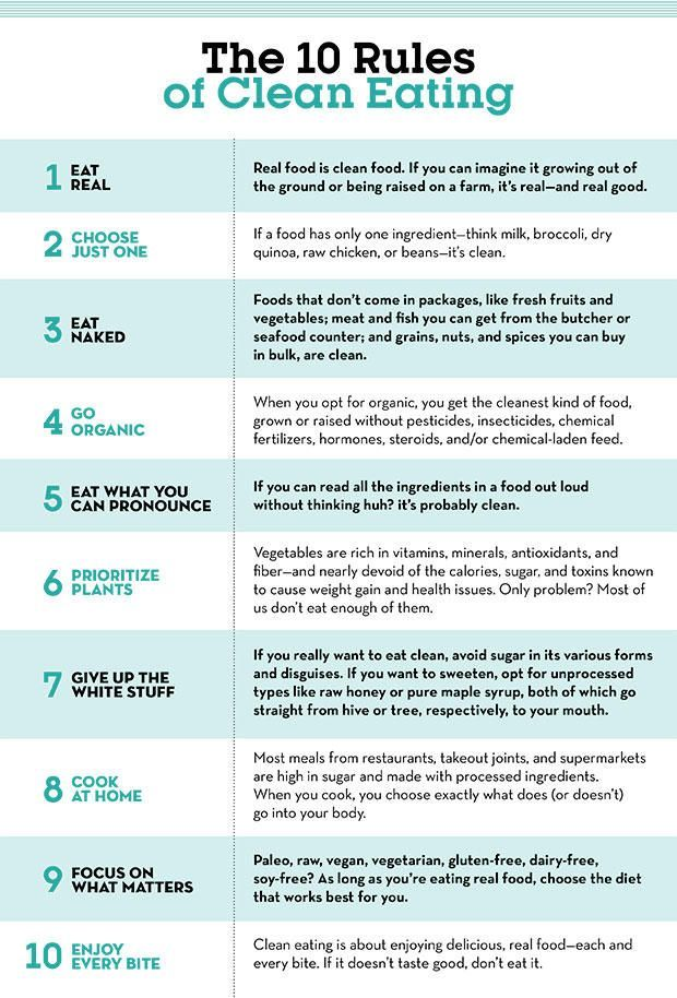 How to Eat Clean: 10 Rules to Follow -  How to Eat Clean: 10 Rules to Follow  www.prevention.co…  - #christmaspresent #clean #eat #follow #howtoclean #howtomakepotholders #improvehomevalue #rules