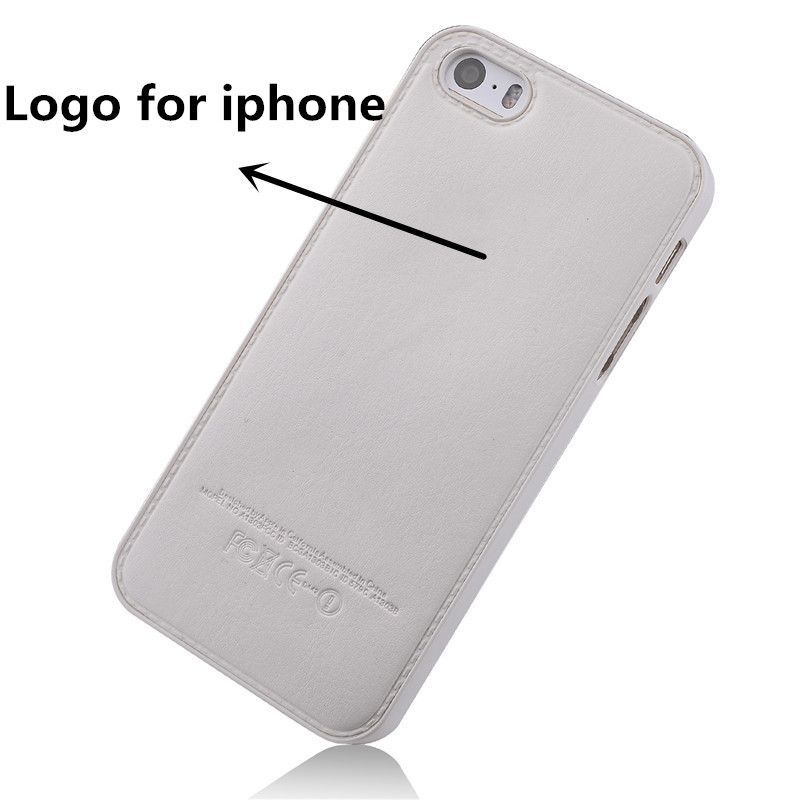original leather phone case For iphone 5 5S 5G cover senior high-grade Genuine leather + plastic back cover For apple LOGO