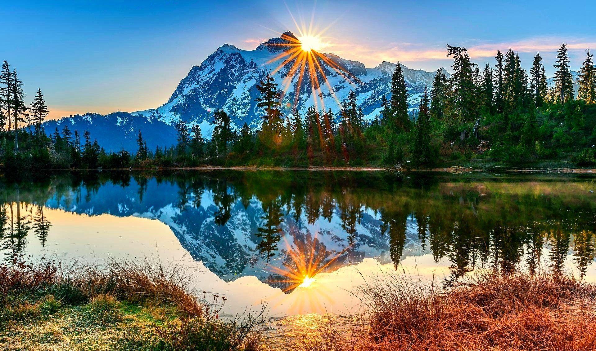 Beautiful Mountain Sunrise Wallpaper Full Hd Mountain Landscape Landscape Wallpaper Paint By Number