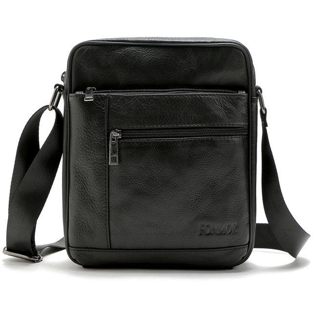Luxury Brand 2016 New Men s bags Cowhide Leather Shoulder Bag Multiple  Zipper Leisure Bag Man Cross body Travel bags b12baf0cbb